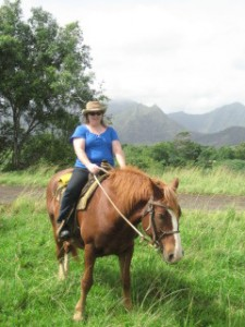 Nancy D. Brown on a Hawaii Horseback Riding Vacation
