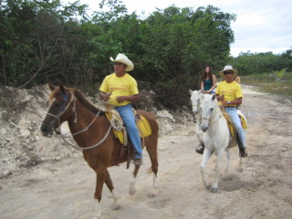 Mexican Vaqueros on a horseback riding vacation