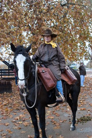 No Horseback Riding Vacation for this Pony Express Rider