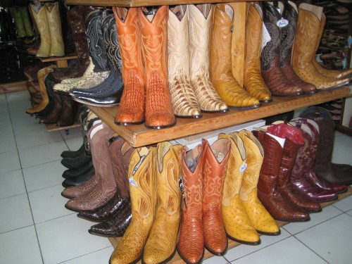 Cowboy boots offer ideal foot protection for a horseback riding vacation