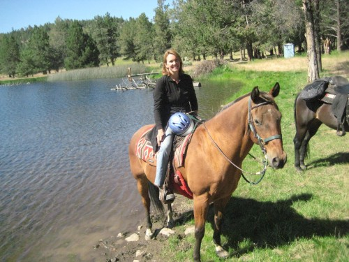 Oregon's Nicole Budden on a horseback riding vacation at Long Hollow Ranch, Sisters, Oregon