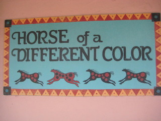 Horses of a Different Color in Old Town Albuquerque, New Mexico