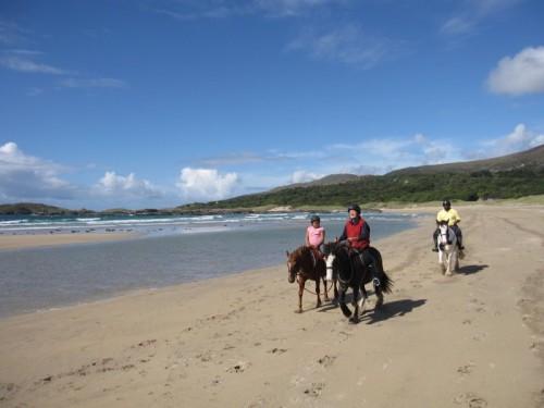 Horseback Riding Vacation on Ireland's Derrynane Beach in County Kerry