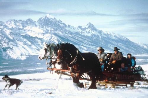 Winter Horseback Riding Vacation at Spring Creek Ranch in Jackson Hole, Wyoming