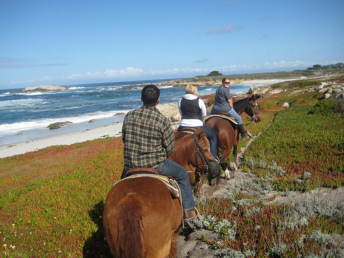 Horseback Riding Vacation Pebble Beach California