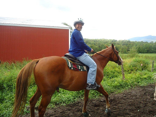 Horseback riding vacations in Stowe, Vermont for adults or buckaroos