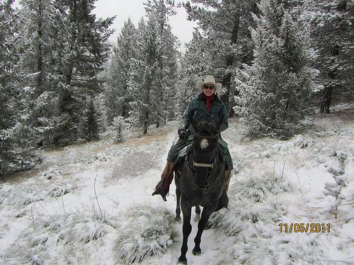 Triple Creek Ranch Owner Barbara Barrett on Klicks for Chicks Horseback Ride