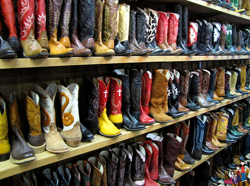 A pair of handmade boots from Leddy's will complete your horseback riding vacation to Fort Worth Stockyards in Texas