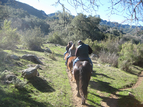 All levels of riders join in a breakfast horseback riding vacation to the Old Adobe at Alisal Ranch