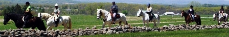 Bring your own horse for a horseback riding vacation at Artillery Ridge Campground.