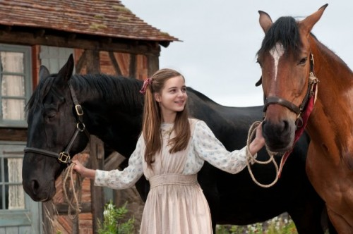 In the movie War Horse, Joey's journey puts him in the care of a French farm girl
