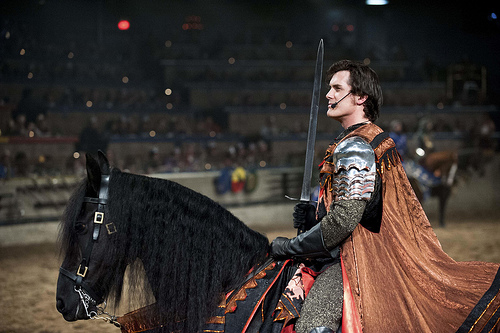 This knight take a horseback riding holiday in Buena, Park, California