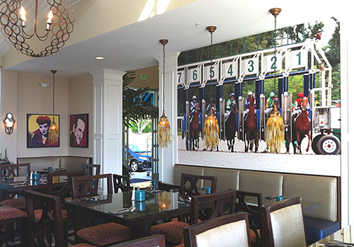 Hotel Indigo features horse racing inspired art