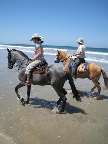Jill and Joe Breman on a horseback riding vacation in Costa Rica