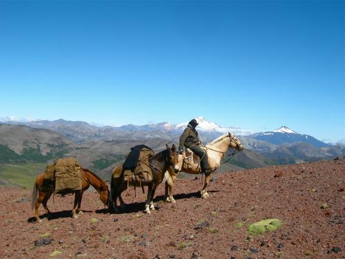 Estancia Ranquilco, horse trekking, Argentina, Patagonia