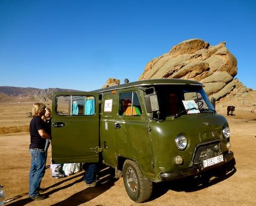 Mongolian Shuttle Bus to Terelj National Park