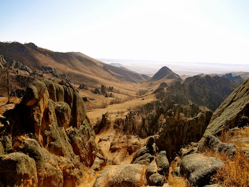 Our horseback riding holiday would take us through these Mongolian mountains
