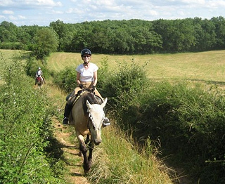 Astrid trail riding in the south of France with Domaine des Garennes