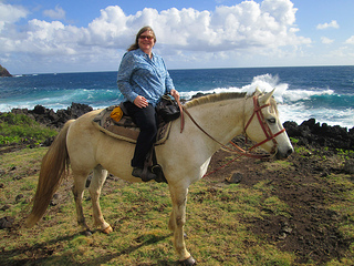 """Nancy Brown Hana horseback"""