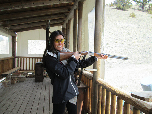 Sporting clay is one of the many activities offered at the Montana ranch. Photo © Nancy D. Brown