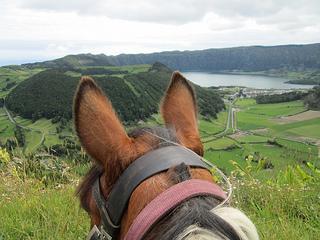 Sete Cidades from horseback