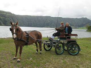 Sete Cidades carriage ride