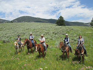 horse riding Big Sky, Montana