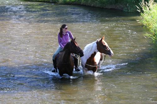"Jessi Sparkman riding ""Bonny"""