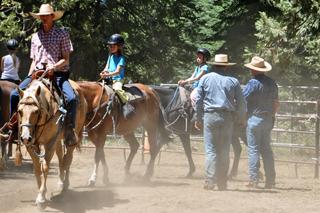 children horseback riding Yosemite
