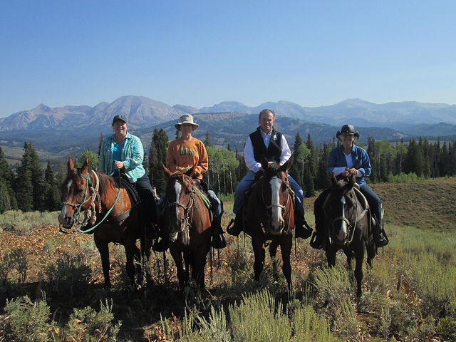 Nancy D Brown, jackson fork ranch, bridger teton national forest, horseback riding vacation, cowboy living
