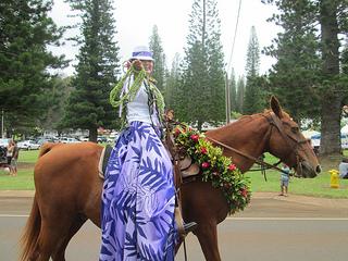 Pa'u rider, Kauai, Hawaii