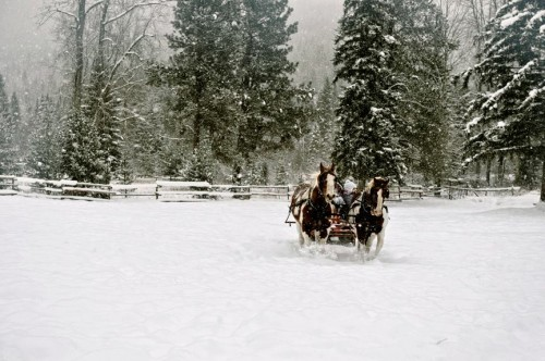 High Lonesome Ranch sleigh ride