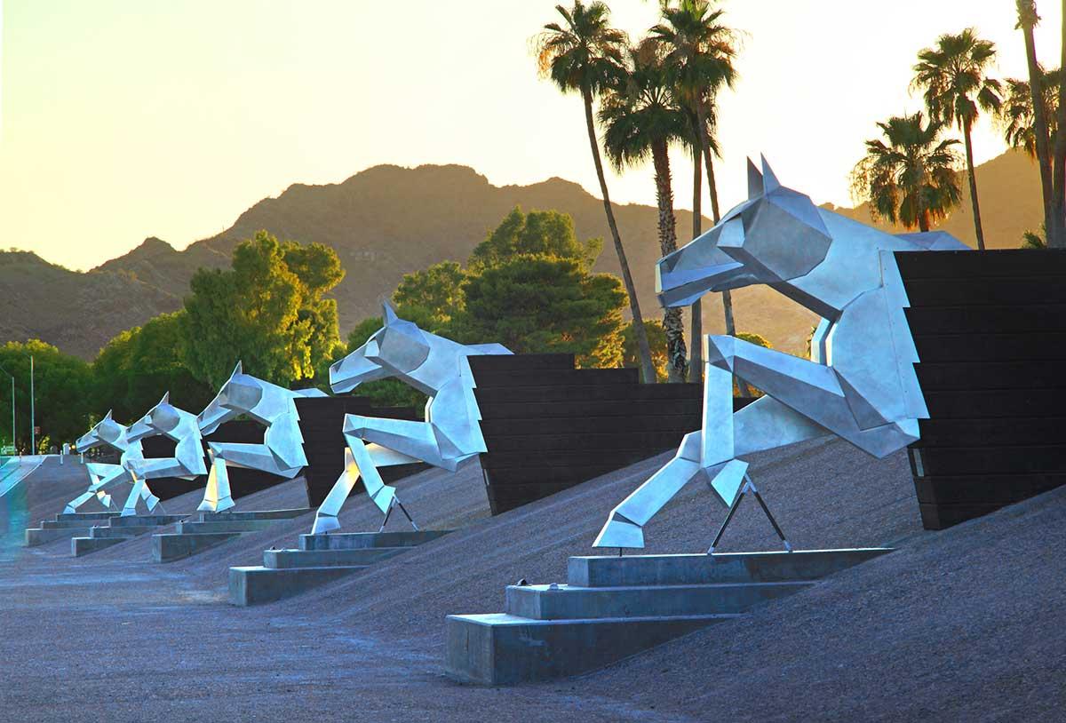 """""""water Mark"""" equine sculpture"""