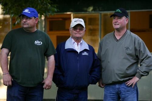 Alan, Art & Steve Sherman of Sherman Racing Stables at Belmont