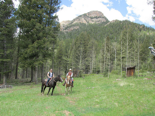 """Pike National Forest"" horseback riding"