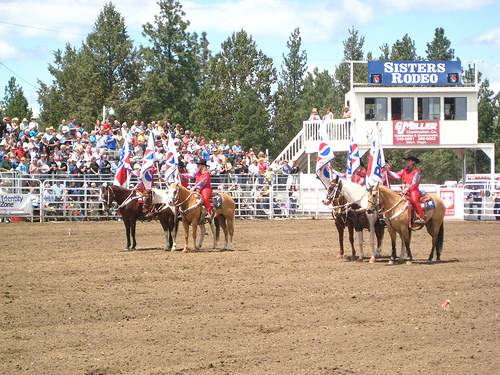 """""""Sisters, Oregon rodeo"""" cowgirls"""
