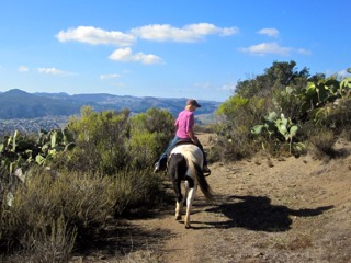 trail ride, Madonna Inn, central California