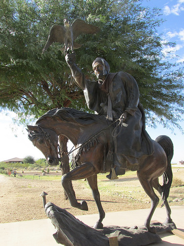 arabian horse statue, morrocan, Los Cedros USA