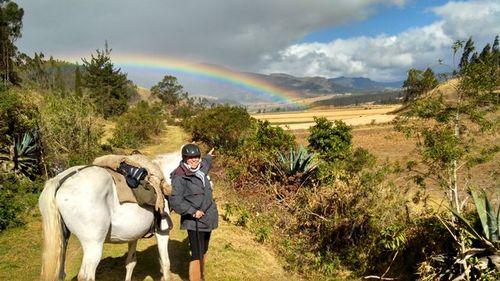 Linda Ballou, Ecuador, horseback riding