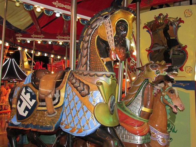royal caribbean, carousel, horse, armored horse