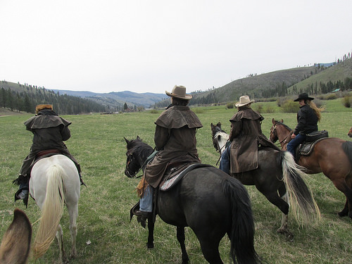 rocky mountain rendezvous, horseback riding vacation, triple creek ranch, montana