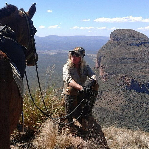 cecile auersperg, horse, entabeni nature reserve, south africa