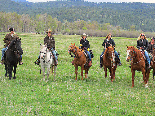 paws up cowgirls, paws up cattle drive, cowgirl spring roundup, missoula, montana