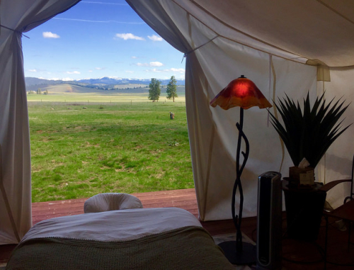 paws up spa town, glamping, spa, paws up, the resort at paws up, swan mountain range