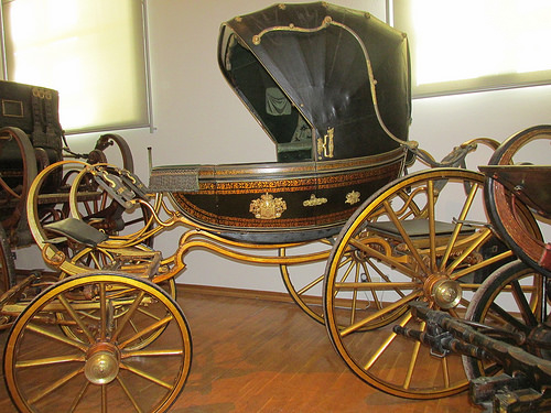 rococo berlin coach, imperial carriage museum, schonbrunn palace, vienna, austria, carriage