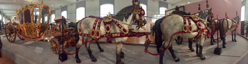 coronation coach, horses, imperial carriage museum, vienna, austria, schonbrunn palace