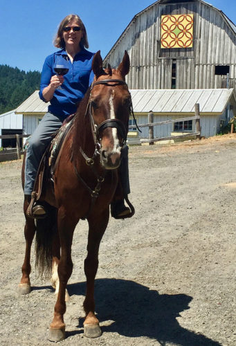 wine tasting, horseback riding, plum hill vineyards, bella rue's stables, nancy d brown, equine wine tour, horse riding tualatin valley, horseback riding willamette valley
