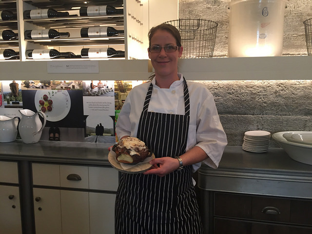 christine shepherd, pastry chef, archetype napa, cinnamon roll