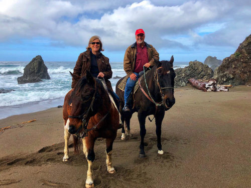 nancy brown, cory brown, ross ranch horseback riding, manchester beach, mendocino county, california