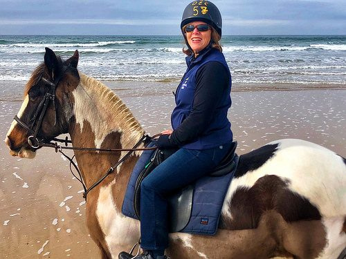 nancy d brown, horseback riding, tullan strand, county donegal, ireland
